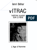 SURRÉALISME THÉÂTRE (BÉHAR 'VITRAC THÉATRE OUVERT SUR LE RÊVE')