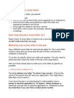 The Purpose of a Cover Letter