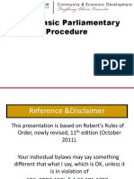 Parliamentary Procedures PPT