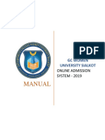 User Manual for Online Admission System