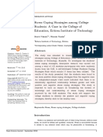Stress Coping Strategies Among College Students a