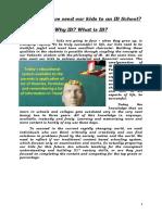 Why IB-What is IB