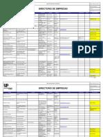 Directorio de Empresas (UPCH SAC 201.RG 01)