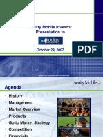 Acuity Mobile Investor Presentation Kodiak