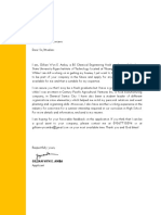 Generic Interview Letter