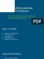 Machine Learning Foundation-Course Content