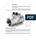 Types of Joint and Fixtures for Pipes - Plumbing - Building Utilities