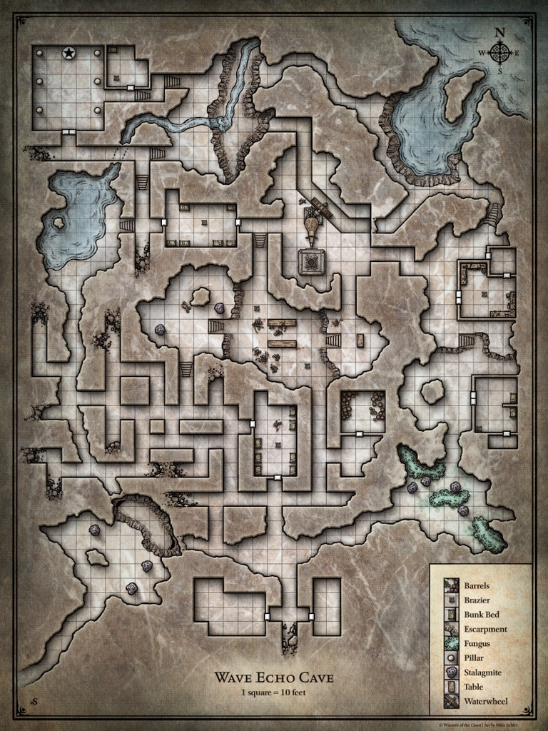 It is a picture of Redbrand Hideout Map Printable for phandelver