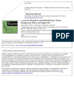 Resource Allocation and Scheduling in Cloud Computing__Policy and Algorithm