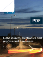 Philips Light Sources, Electronics and Professional Luminaires, Pricelist 2018