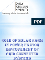 ROLE OF SOLAR FARM IN POWER FACTOR IMPROVEMENT OF  GRID CONNECTED SYSTEMS