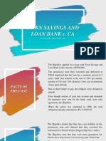 Town Savings and Loan Bank v. CA