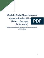 Modelo Guía Didáctica Para Programacion Para Idiomas MCERL