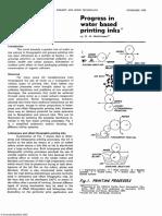 Progress in water based printing inks