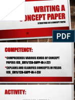 Writing a Concept Paper Structure