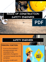 Roles of Construction Safety Engineer