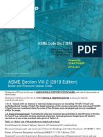 ASME Section VIII Div.2 2019 Code Changes By Divakar Panigrahi ASME Authorized Inspector, ABS Group