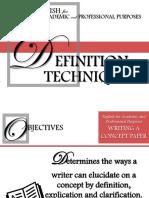 Definitin Techniques