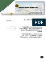 Preferências musicais dos estudantes do Curso Técnico em Instrumento Musical do IFPB/JP