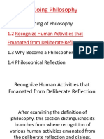 1.2 Recognize the Value of Doing Philosophy in Obtaining a Broad Perspective on Life