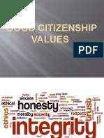 Good Citizenship Values