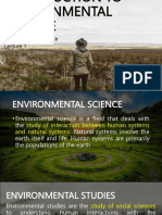[WK1] Introduction to Environmental Science
