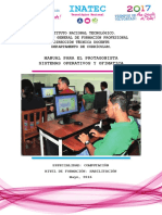 Manual de sistema operativo y ofimática