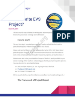 Guide About How to Write Best EVS Project