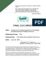 Ghtf Sg3 n99 8 Guidance on Quality 990629