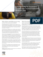 Collaborating for Successful Open Access Journal Publishing Webinar Q and A