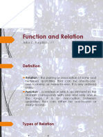 Function and Relation