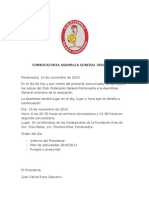 Convocatoria Asamblea General CWGP