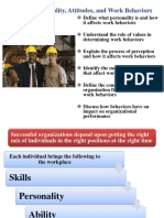Ability, Attitudes and Work Behavior