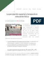Percepción Espacial y Temporal en Educación Física