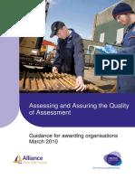 Assessing and Quality Assuring Assessment Guidance Document Final April10 V1_0