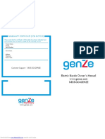 Genze e101 User Manual