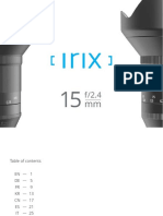 Irix 15mm Basic User Manual