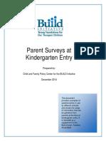 Parent Surveys at Kindergarten Entry.