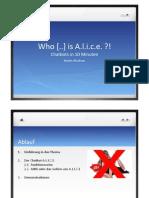 A.L.I.C.E - Chatbots in 10 Minuten