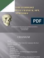 Anatomi Radiologi Konvensional Cranium, Spn, Vertebra