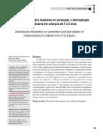 Ortopedia funcional dos maxilares na prevenção e interceptação de más-oclusões em crianças de 2 a 5 anos