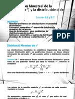 Distribución Muestral de La Varianza y La t 8.6 8.7