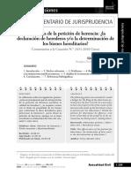Silvia Morales Silva. La eficacia de La petición de herencia, la declaración de herederos ..