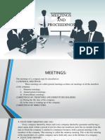 Meetings and Proceedings