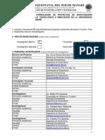 0. Formato Para La Formulación de Proyectos de Investigación Científica 2