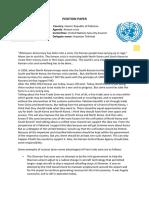 Aryaman Tekriwal Batch MUN 2019-2020 Position Paper