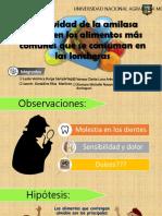 Efectividad de La Amilasa Salival en Los Alimentos.