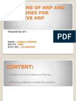 Problems of Hrp and Guidelines for Effective Hrp Ppt