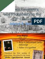Algebra Geometry Probability in the 17th Century 1