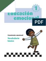 Educación emocional - Vocabulario básico
